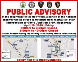Holy Week Public Advisory