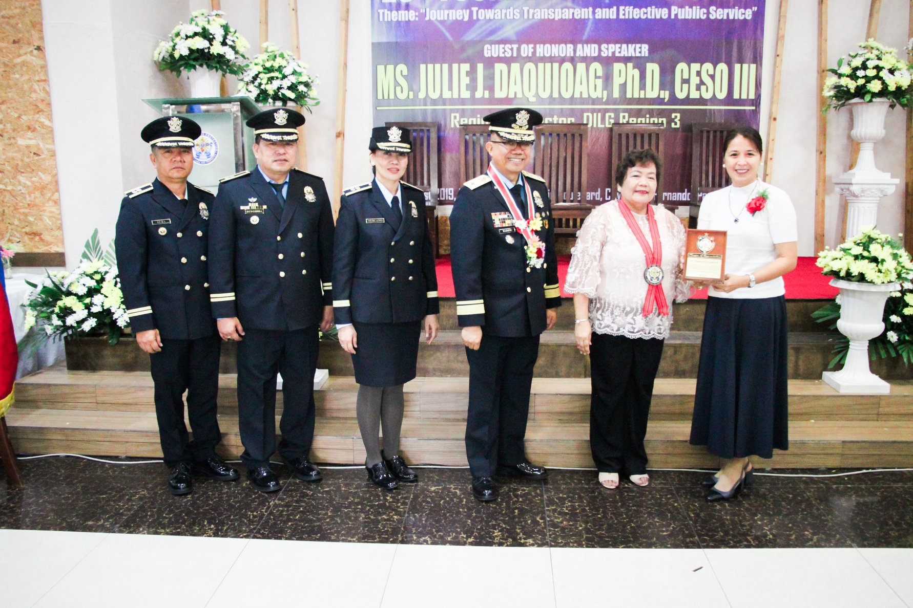 Plaque of Appreciation Awarded to Mayor Eleanor D. Dominguez