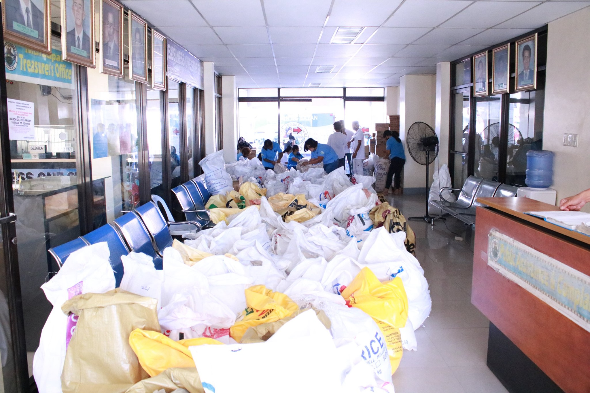 Repacking and Distribution of Relief Goods