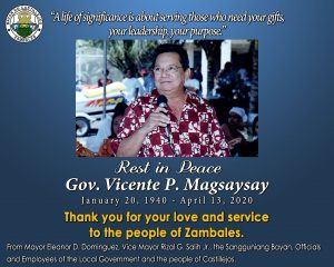Notice to the Public Regarding the Public Viewing of the remains of Gov. Vicente P. Magsaysay