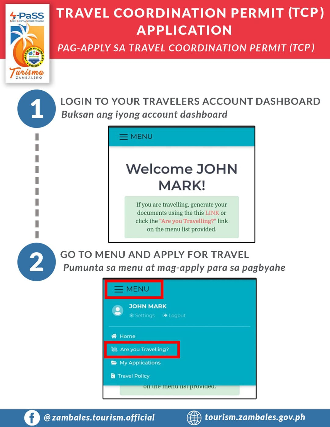 Travel Coordination Permit (TCP) Application Guide